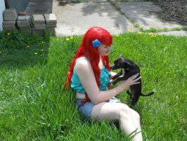 Playing with my puppy by SabinaRose5