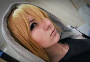 Mello's make up test ^w^ by titania-cosplay