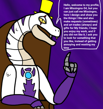 Welcome to my Profile by Missingno-54