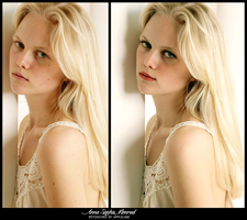 Retouch Anne Sophie Monrad by theskyinside