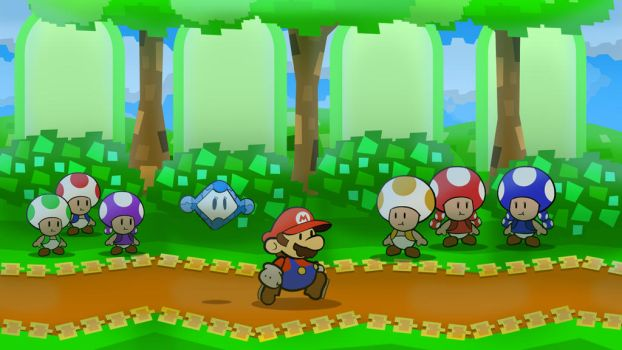 Toad only Paper Mario concept by DerekminyA