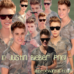 Pack png 10 - Justin Bieber by Abbiy