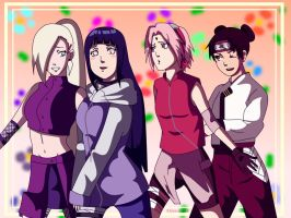 Konoha's cuties by XJose-chanX