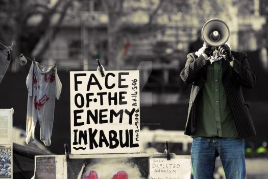 Face of The Enemy in Kabul by Alharbiseye