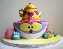 Cheshire Cat cake 2 by bahgee
