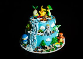 Pokemon Cake by KayleyMackay