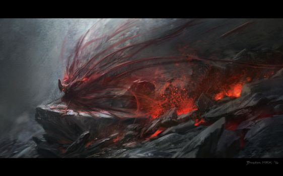 Lava Fairy by Bogdan-MRK