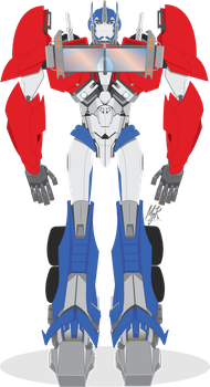 TFP OPTIMUS PRIME: Vector-Based - FULL BODY by MessyArtwok