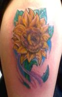 Sunflower Tattoo by SuperSibataru