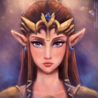 Zelda - Portrait by Adam-Gilbert