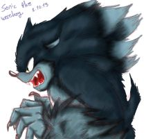 Werehog Sonic - Finish by Nei-Ning