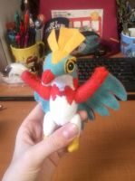 Simplified Hawlucha Plush by Vulpes-Canis