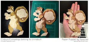Paper Puppet Commission- Cinbun by Spazzel