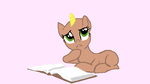 MLP Base: Thoughtful Reader by FIMbases