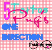 Pack Textos png one direction by TamaraFrancisca