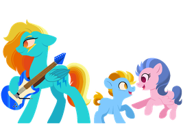 Next Gen #2: Rainbow Dash/Lightning Dust by CarouselUnique