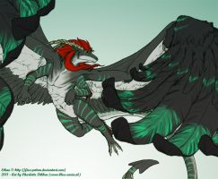 On Mighty Wings by Blue-Uncia