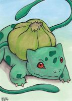 Bulbasaur ACEO colored by AokiBengal