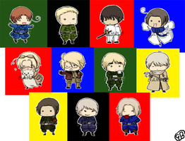 Hetalia Buttons by TriaElf9