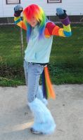 Rainbow Dash'in by BlazingBandit