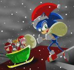 Merry christmas by Sonic by bocodamondo