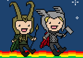 Nyan Asgardians by katribou