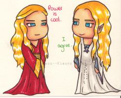 Crossover : Cersei and Galadriel by Princess--Kimono
