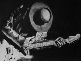 Stevie Ray Vaughan by candysamuels