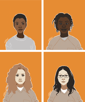 Oitnb character portraits | part 1 by Donsveertje