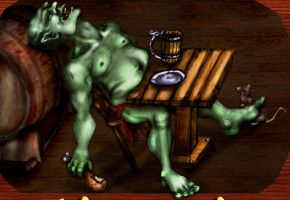 Orc's Belly Tavern - Close up by TheDarkestwolf