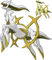 493 - Arceus (Zap Plate) - Art v.11 by Tails19950