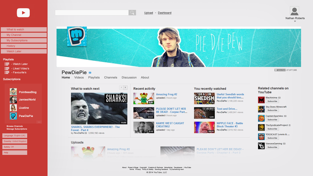 My YouTube Design Concept. Channel. by tardisplus