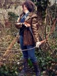 Katniss Cosplay-Watching by celticbard76