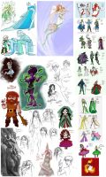 Giant OC Conglomeration by GingerOpal