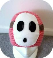 Pink Shy Guy Beanie by AAMurray