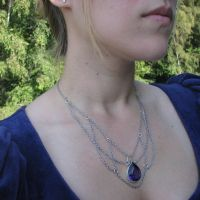 Victorian Amethyst Drop Necklace #1 by Joshuadsanchez
