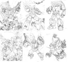 TF Legend game card pencils sample by Dan-the-artguy