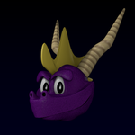 New 3D original Spyro WIP by PyroDragoness