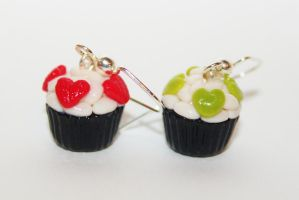 Polymer Clay Valentine's Day Sushi Cupcakes by CharmStop