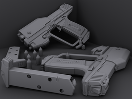 M6B - Halo Reach Styled Magnum by Chief-01