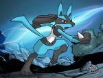Lucario Paint Brush round 2 by mgunnels3