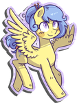 Commission - Buttons flying by Reporter-Derpy