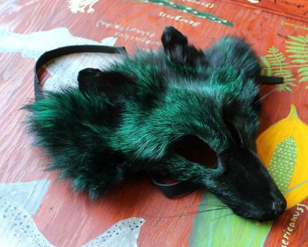 New fox and coyote masks - 7-1-14 by lupagreenwolf