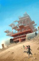 Mortal Engines - London looms by LeightonJohns