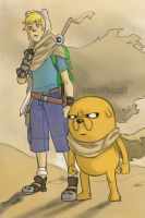 Epic Finn and Jake by pencilHeadno7