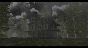 The old house in the dark forest by SwissAdA