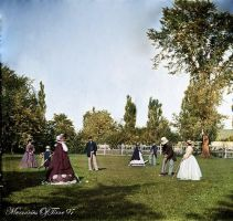Croquet on the lawn by MemoriesOfTime97