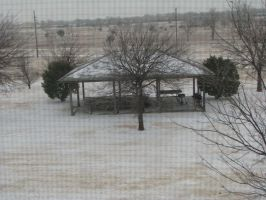 Snow in Oklahoma by phdmatt2002