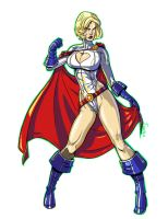 Power Girl Pin-up 2010 by RyanJampole