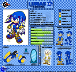 Lunas the Echidna Character Sheet by Arkus0